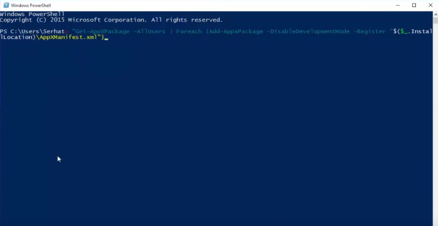 windows-10-baslat-menusu-acilmiyor-powershell