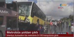 Metrobüs Acıbadem Yolunda Yoldan Çıktı!!! Şok Kaza Nedeni!