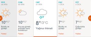 2017 Yılbaşı Gecesi İstanbul Hava Durumu ve Kar Yağma İhtimali
