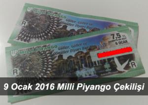 Milli Piyango 9 Ocak 2017 Çekilişi Sonuçları ve Büyük İkramiyeler