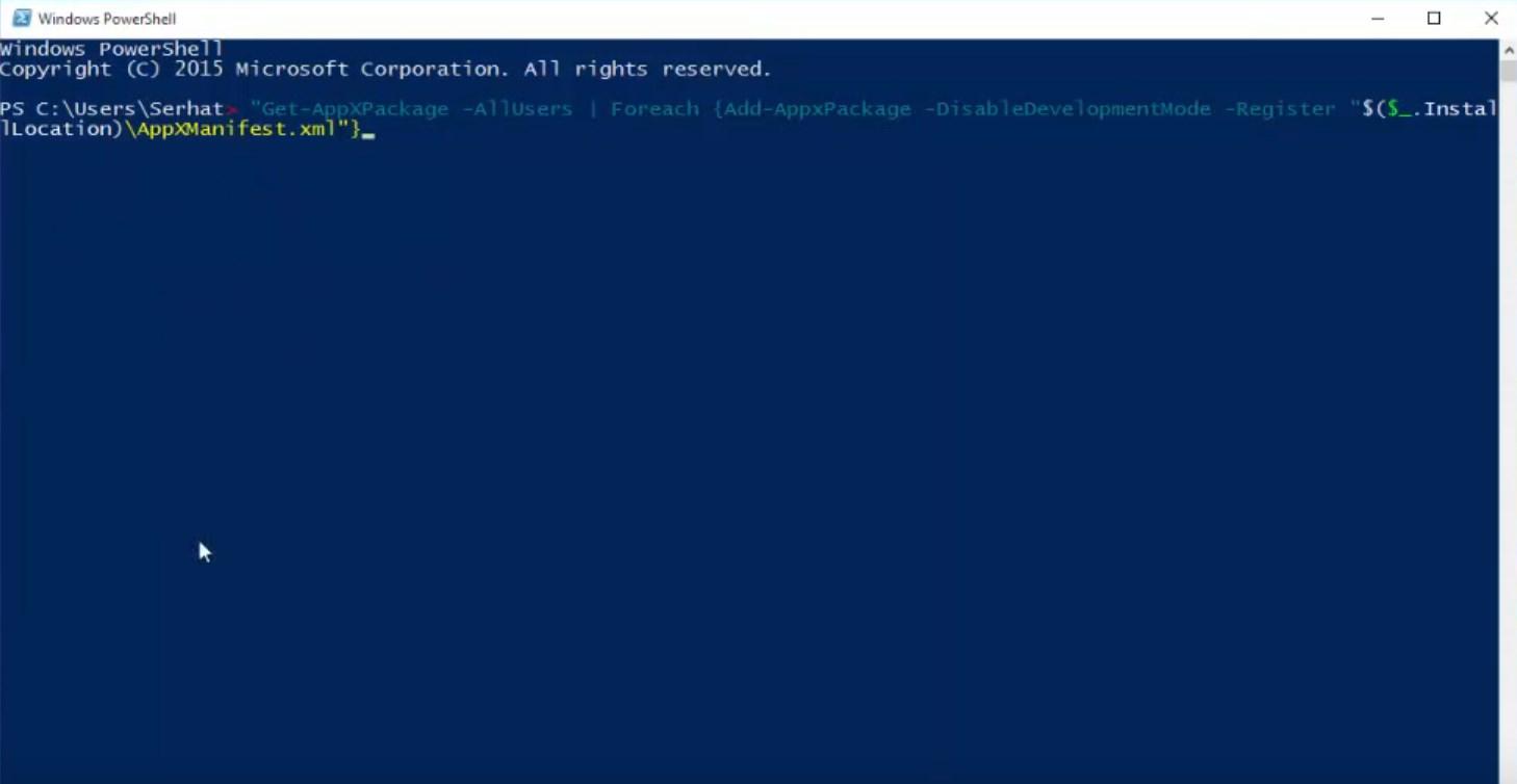 windows-10-baslat-menusu-acilmiyor-powershell