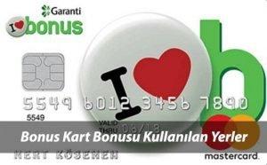 Garanti Bonus Puanları Geçen Yerler, Marketler, Akaryakıt ve Alışveriş Siteleri