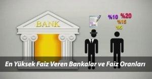 En Yüksek Faiz Veren Bankalar 2021 Yılı Güncel Mevduat Faiz Oranları