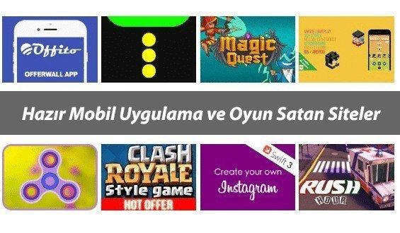 Android & iOS Hazır Mobil Uygulama ve Oyun Satan Siteler
