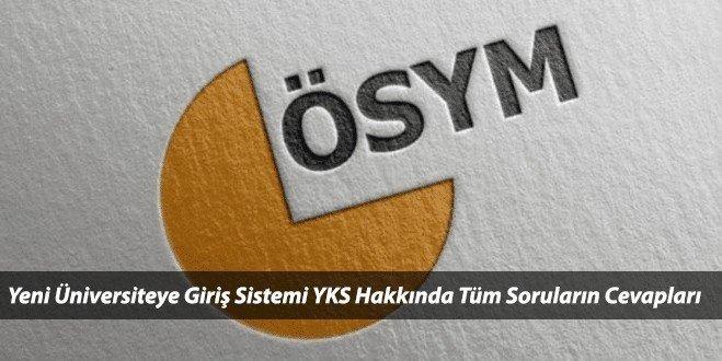 Yeni Üniversiteye Giriş Sınav Sistemi 2018 YKS'ye Dair Herşey