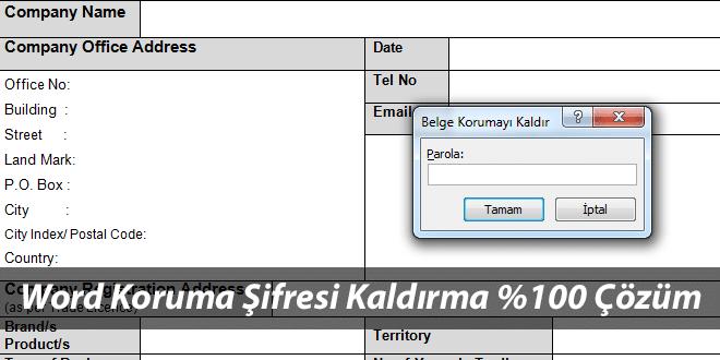 Word Şifresi Kırma ve Kaldırma (Word 2003-2007-2010 Dosyası Koruma Şifresi Sıfırlama)