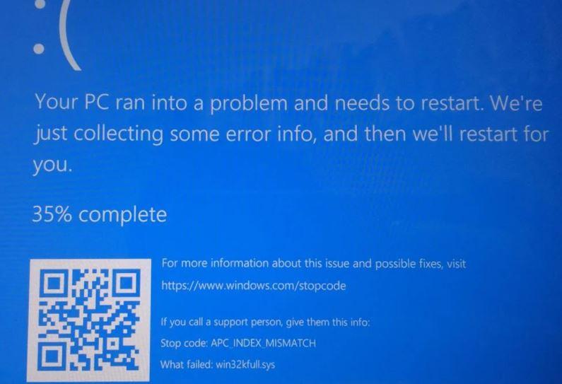 Windows 10 APC_INDEX_MISMATCH Hatası Çözümü(Yazdırma Sırasında Windows Çökmesi)