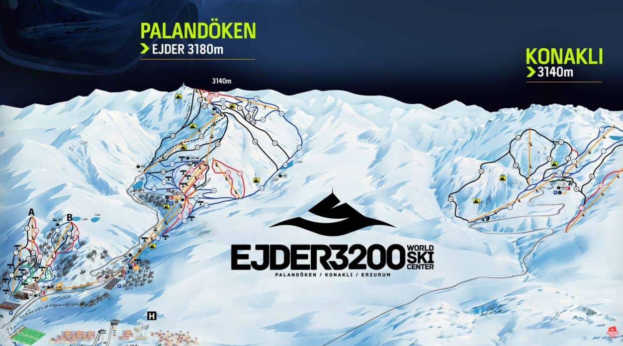 palandoken-kayak-merkezi-pist-haritasi